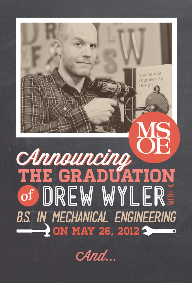 Drews Graduation Announcements – Funny Graduation Invitation