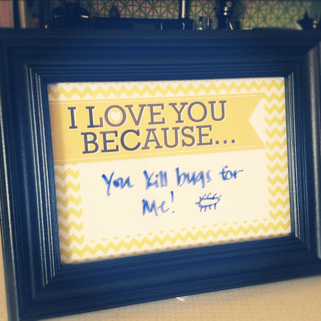 I Love You Because Frame Drew Amp Vanessa