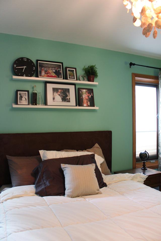 Master bedroom progress drew vanessa for Small mirrors above bed