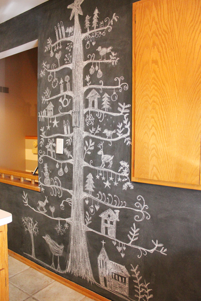 christmas tree chalkboard