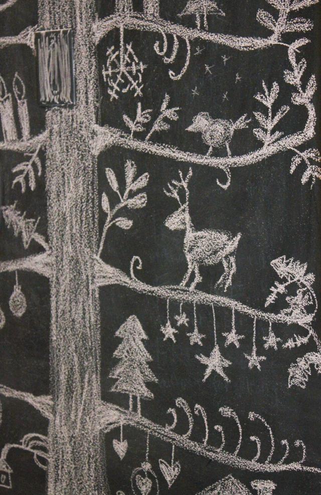 chalkboard wall decoration tree