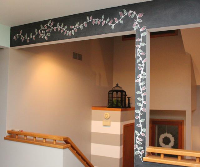 chalkboard wall lights idea christmas