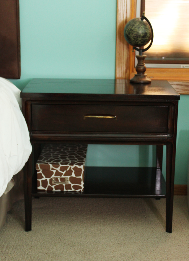 mid century modern night stand before and after