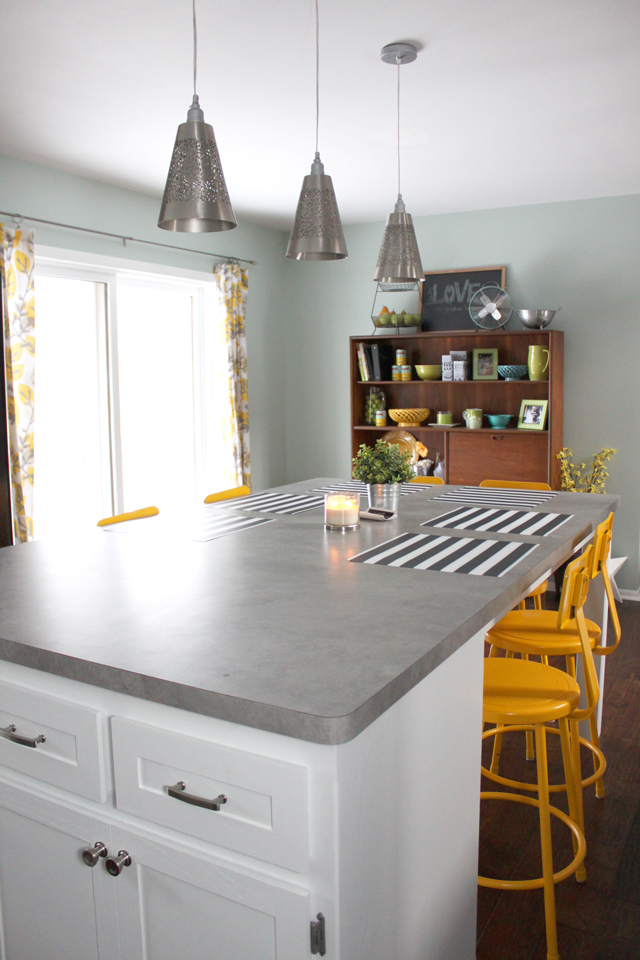 We Went With Wilsonart Laminate In The Pearl Soapstone Finish Chose Self Edge So That It Would Look More Like Concrete