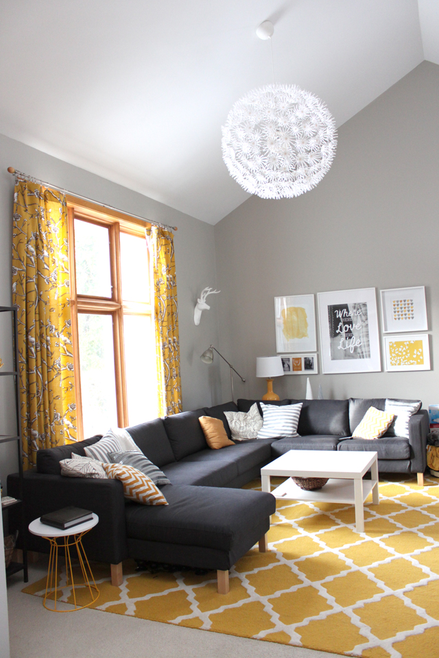 Gray paint suggestions young house love forums for Living room yellow accents
