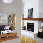 Living Room Fireplace – Painted
